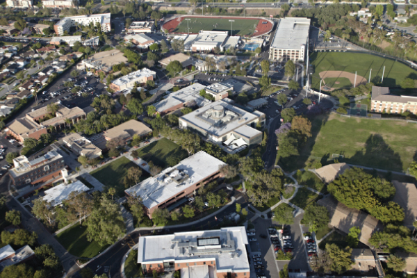 Aerial view of Biola's campus