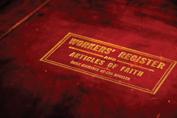 Workers Register and Articles of Faith Book Cover