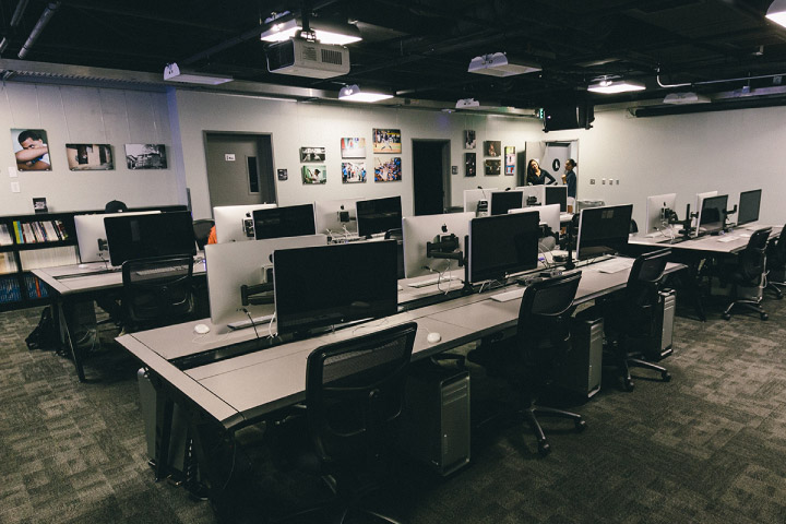 Journalism room in the Production Center