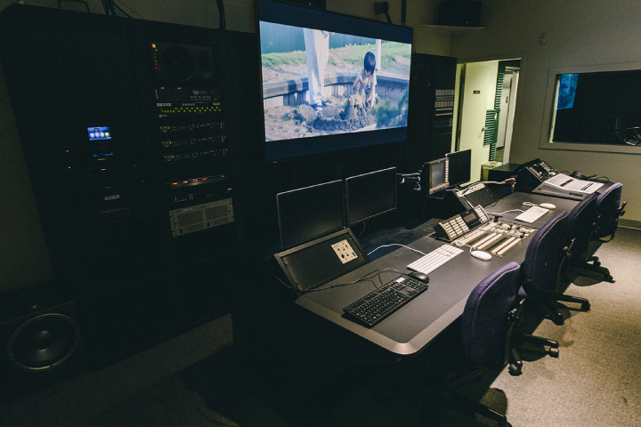 Production Center screening room
