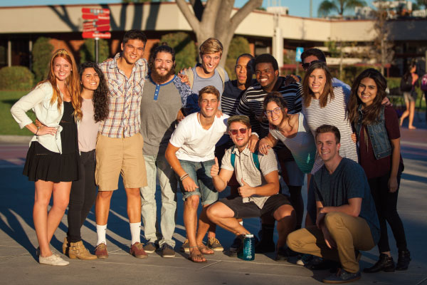 A group of Biola students