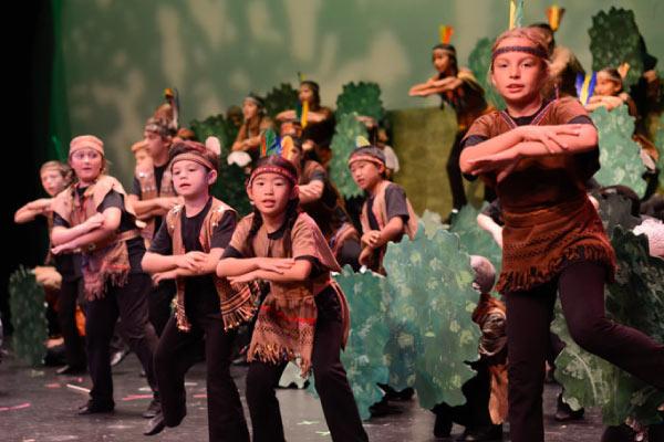 Young players performing Peter Pan Jr.