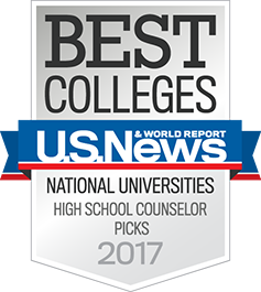 U.S. News and World Report Best Colleges: National Universities, High School Counselor Picks 2017