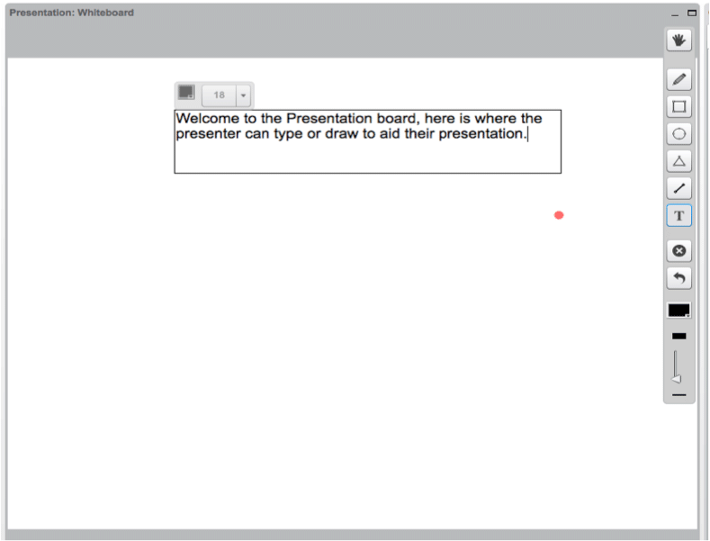 Canvas presenter toolbar