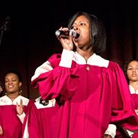 Singers from the Gospel Choir