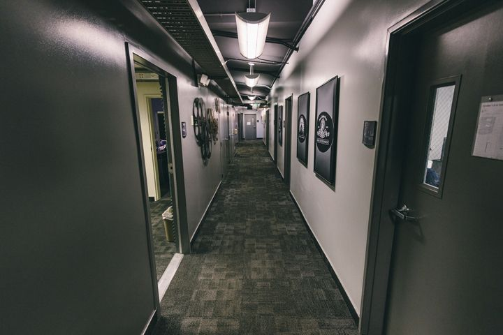 Main hallway in the Production Center
