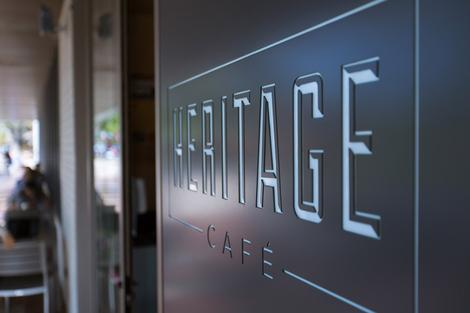 Heritage cafe sign