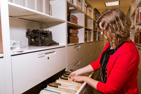 librarian searching records