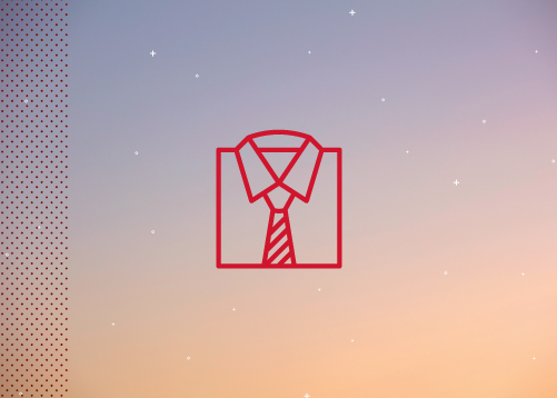 icon of dress shirt and tie