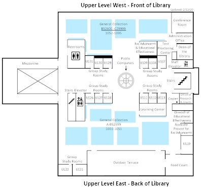 upper level map