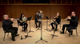 Brass Quintet playing Squirrel Chase