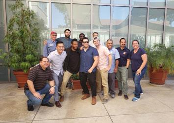 Group of veteran students