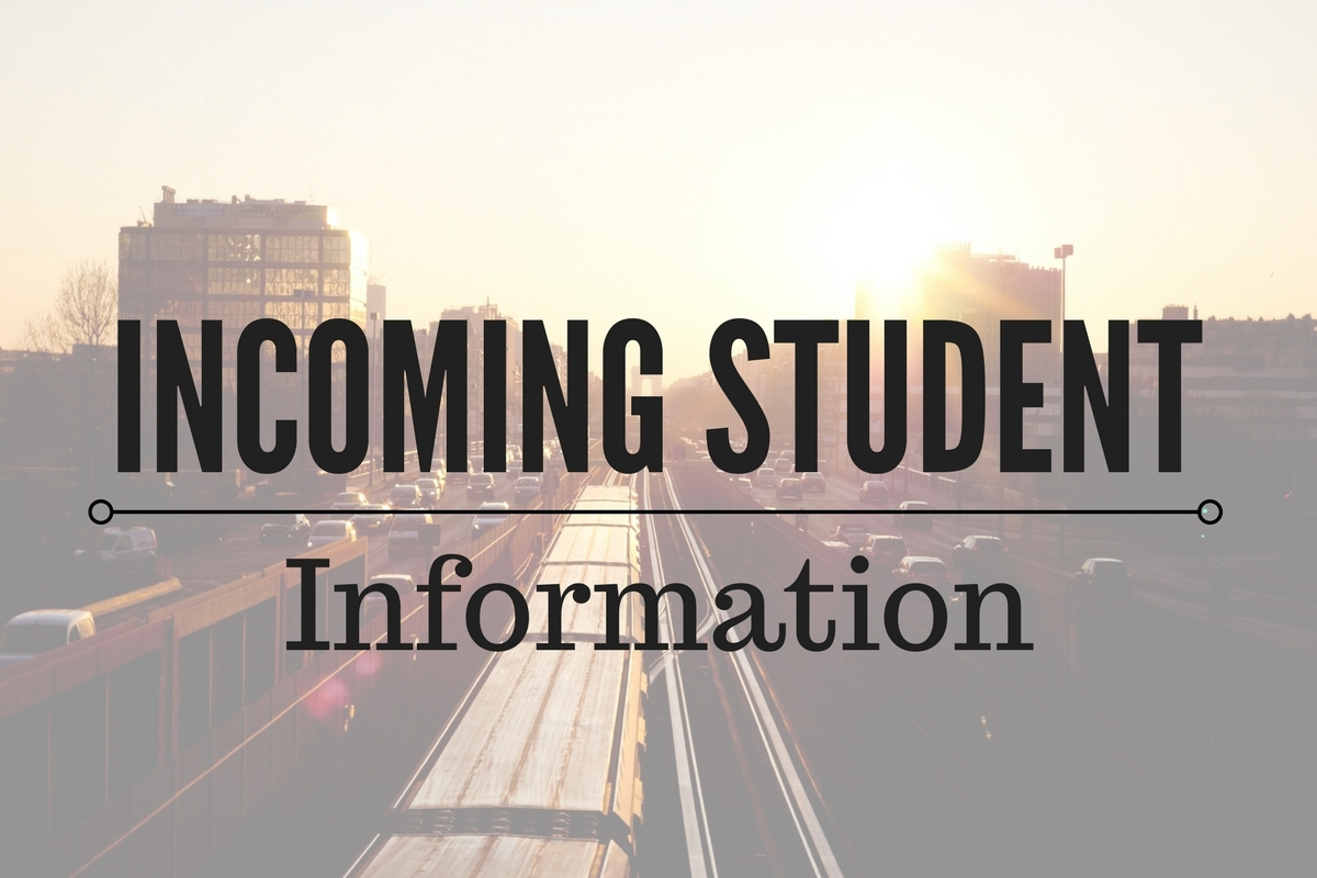 Biola Housing Incoming Students page with background image of road and setting sun