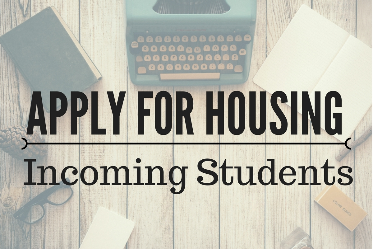 How To Apply for Biola Housing with background photo of typewriter