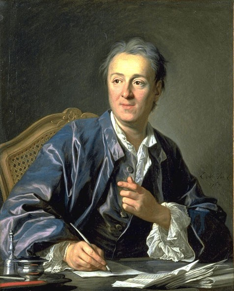 Painting of Denis Diderot