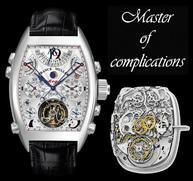 """Complicated wristwatch, picture reads """"Master of Complications"""""""