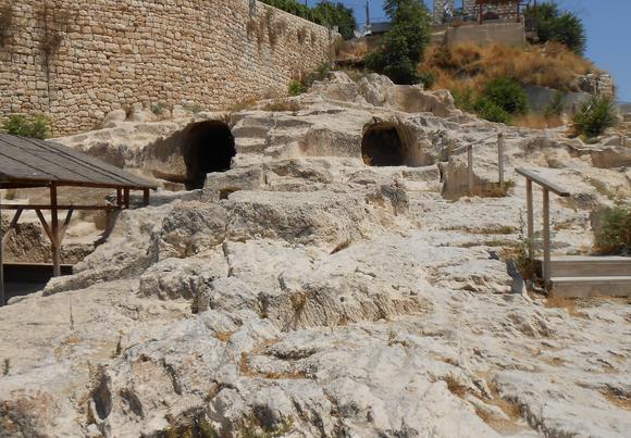 large rock-hewn chambers