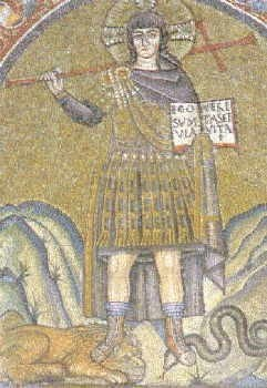 Jesus wearing Roman armor