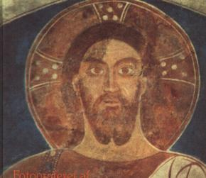 Painting of Jesus with Trinitarian halo