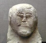 Statue of man's head