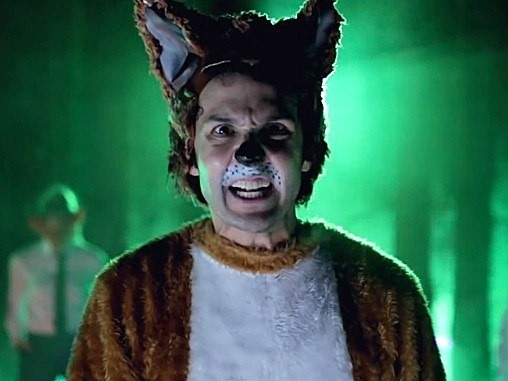 Man in fox costume