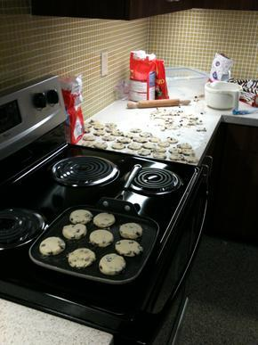 Welsh cake baking session in the Draycott home