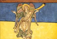 "Spanish Unknown Masters, ""The Seventh Angel of the Apocalypse Proclaiming the Reign of the Lord"" (c. 1180)"