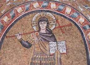 Early Christian Mosaic of Jesus
