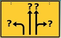 Sign with arrows pointing in different directions