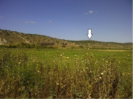 Border of Philistia in the Valley of Elah