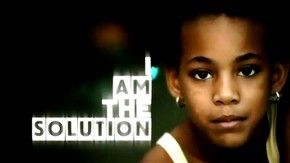 "Picture of young girl with words ""I Am the Solution"""