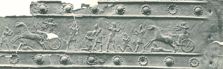 Relief showing Assyrian soldiers exterminating their enemies