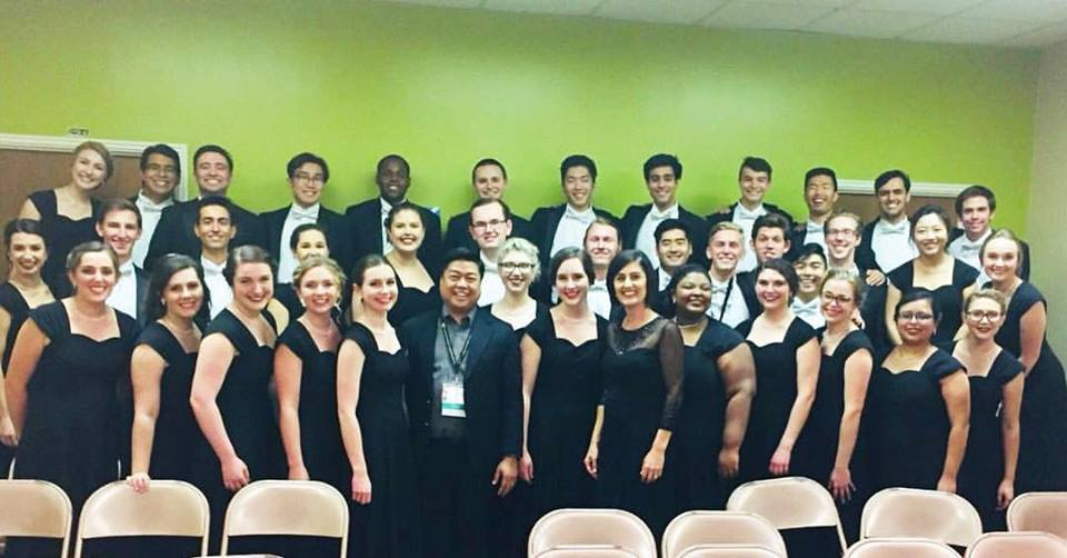The Biola Chorale with Mark Anthony Caprio, the director of MADZ