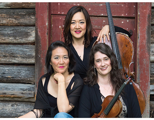 Larson with her string trio