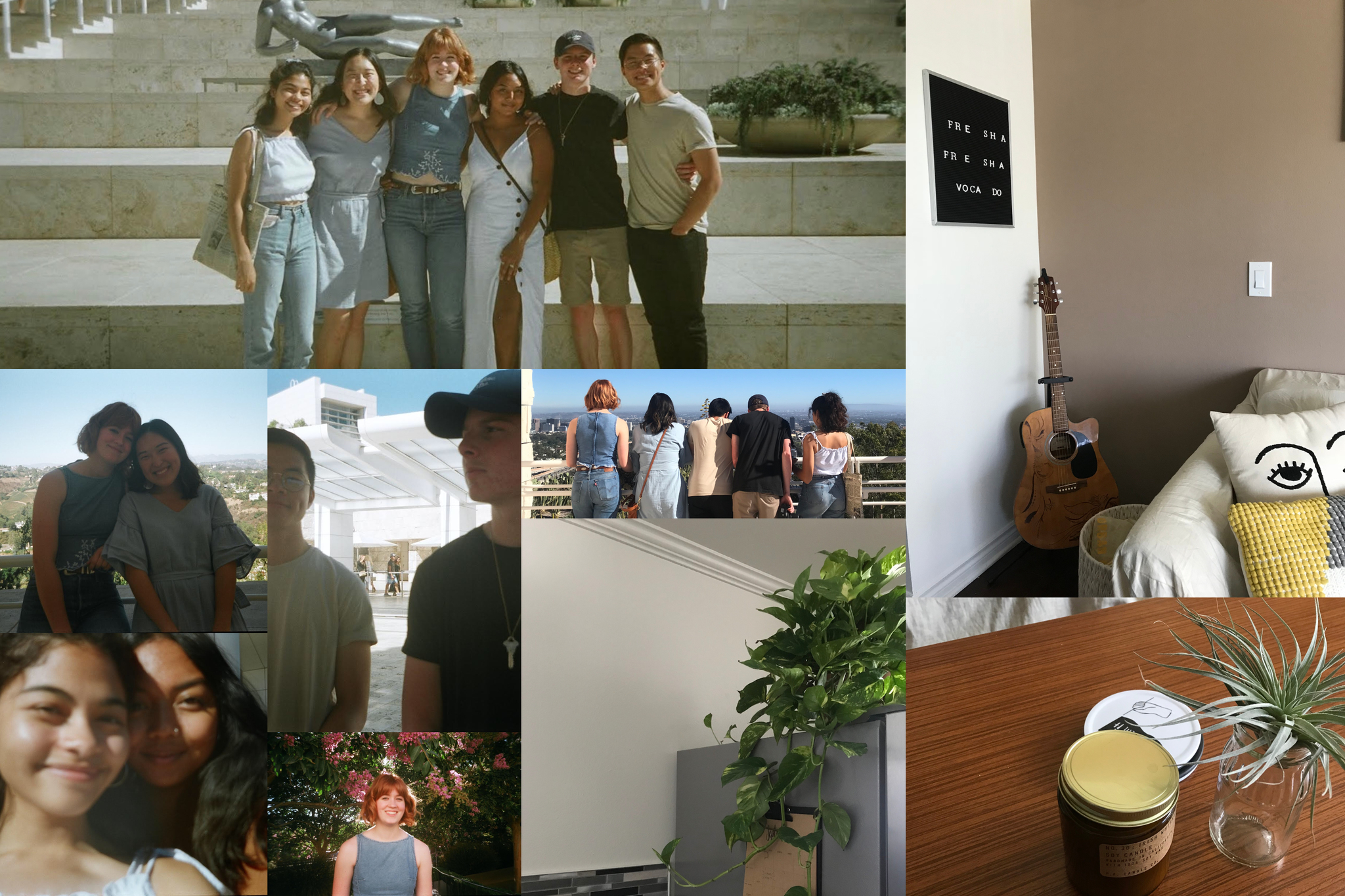 Aubrey and Best Friends and Apartment Collage
