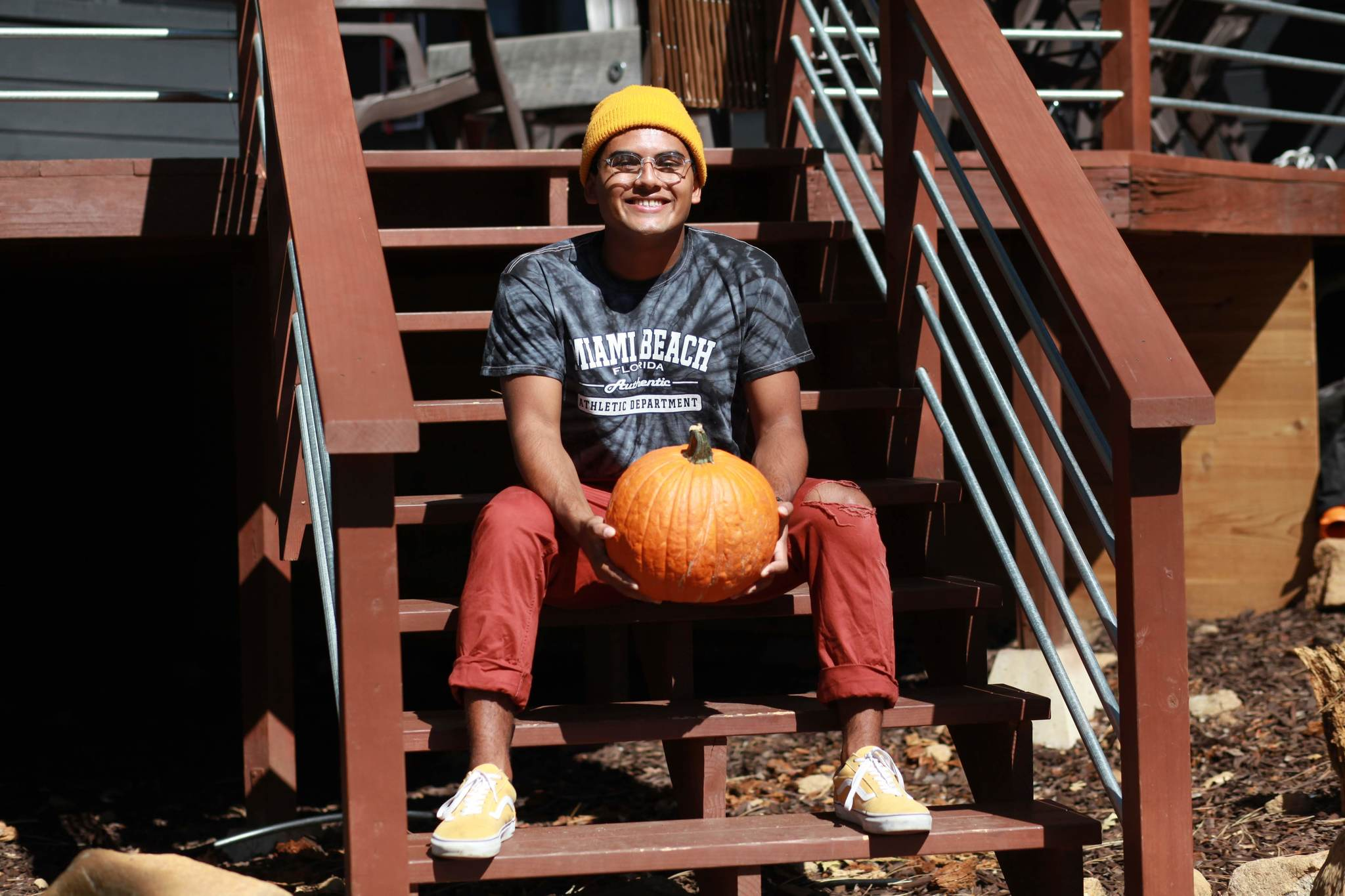 Me and a pumpkin in Idyllwild, CA