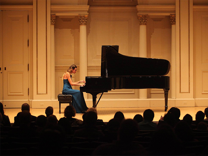 Kate Bode performs in Carnegie Hall