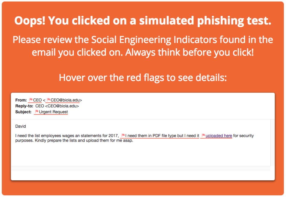 Simulated Phishing at Biola - Information Security - Biola