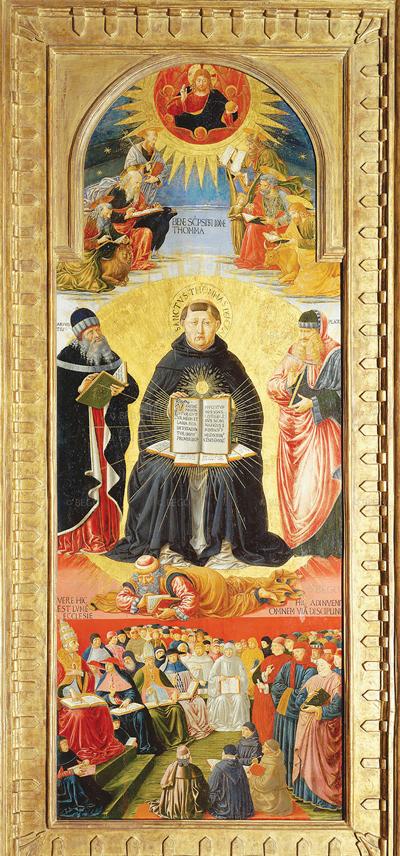 Triumph of St. Thomas Aquinas by Benozzo Gozzoli (1471)