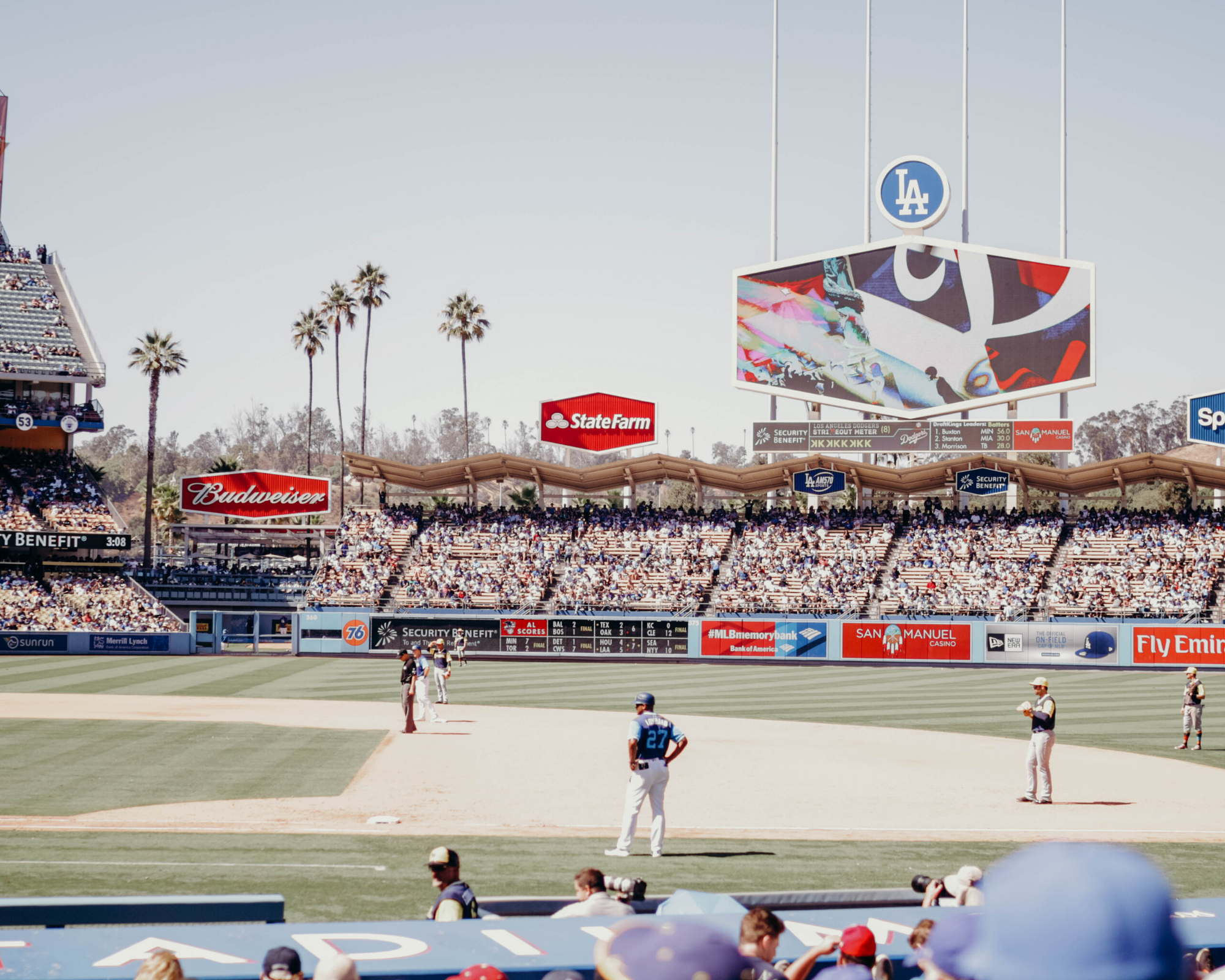 A Dodger and Anaheim Angels Game from Hunter's camera