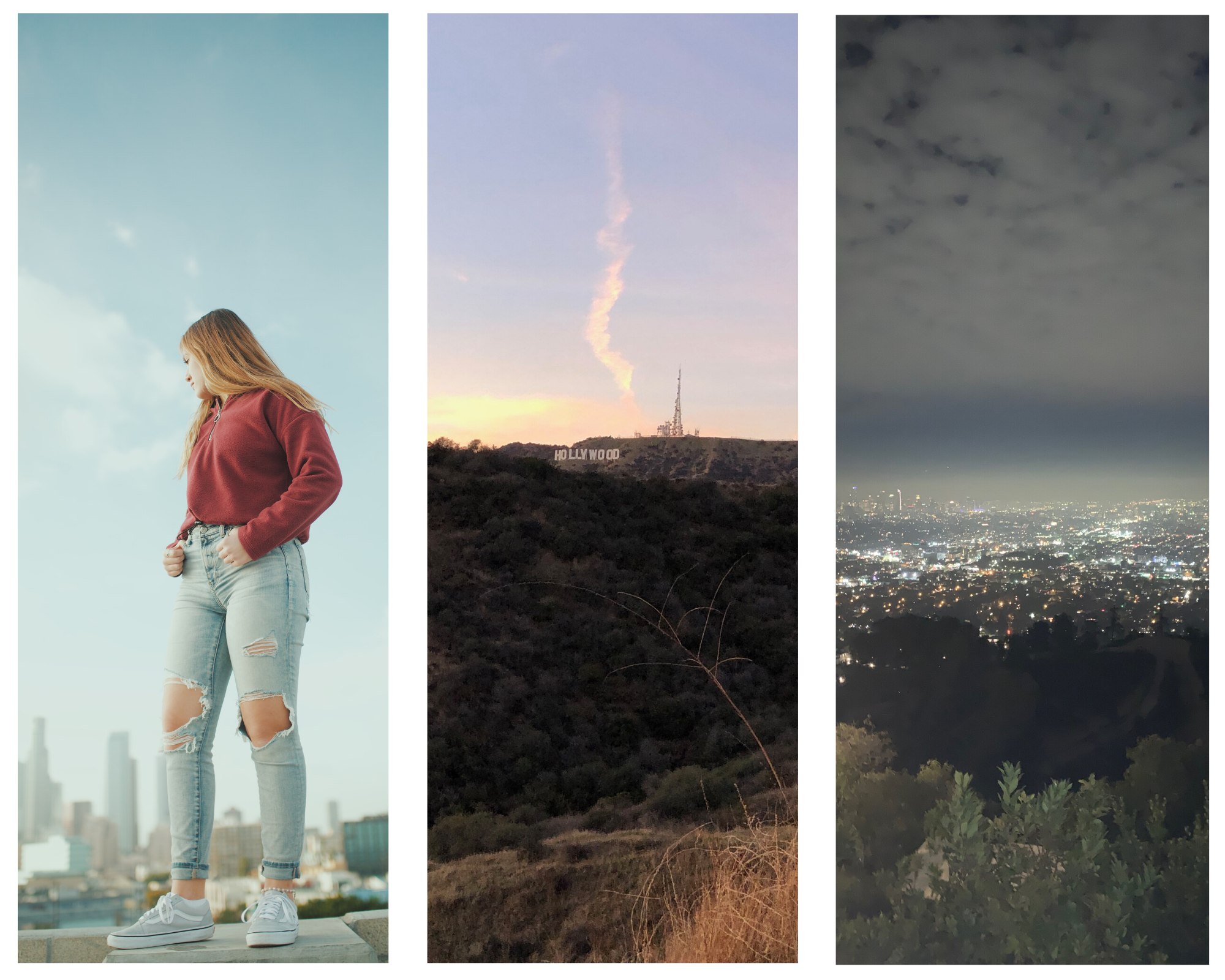 LA Adventures with Hunter and friends, atop parking garages and buildings