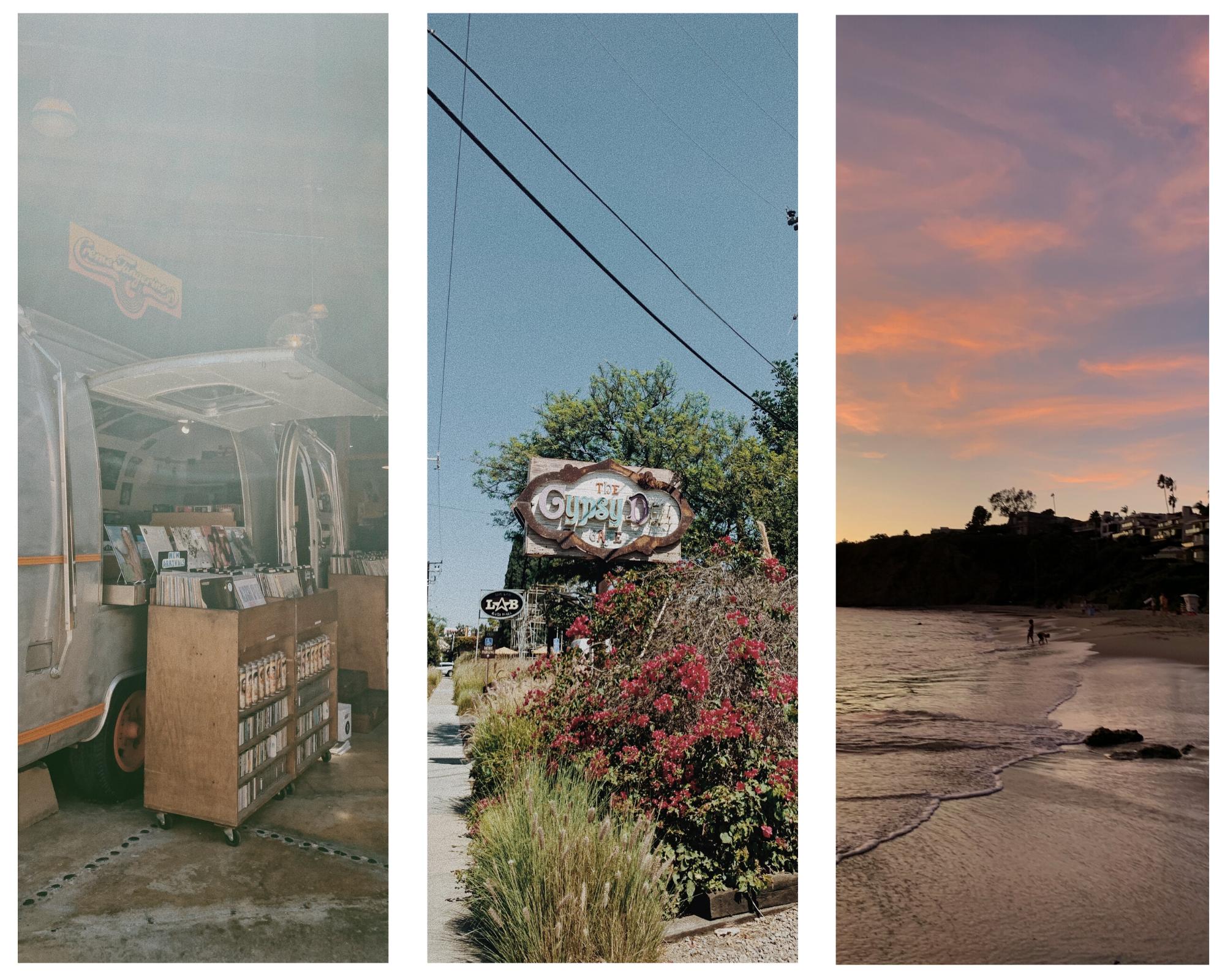 Newport Beach and Costa Mesa, the Anti-Mall and Gypsy Den Restaurant