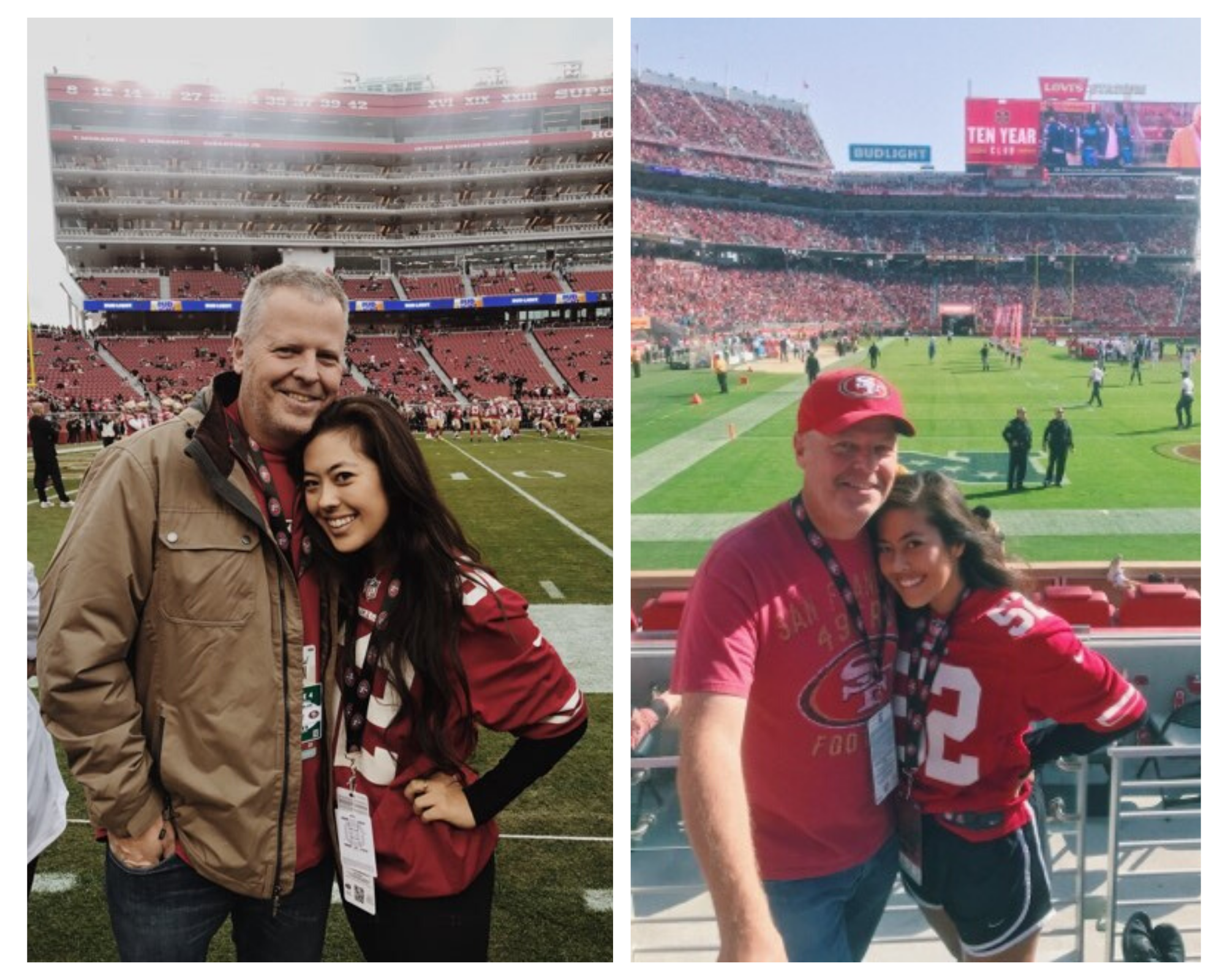 Anna and her dad at 49ers games photo 2