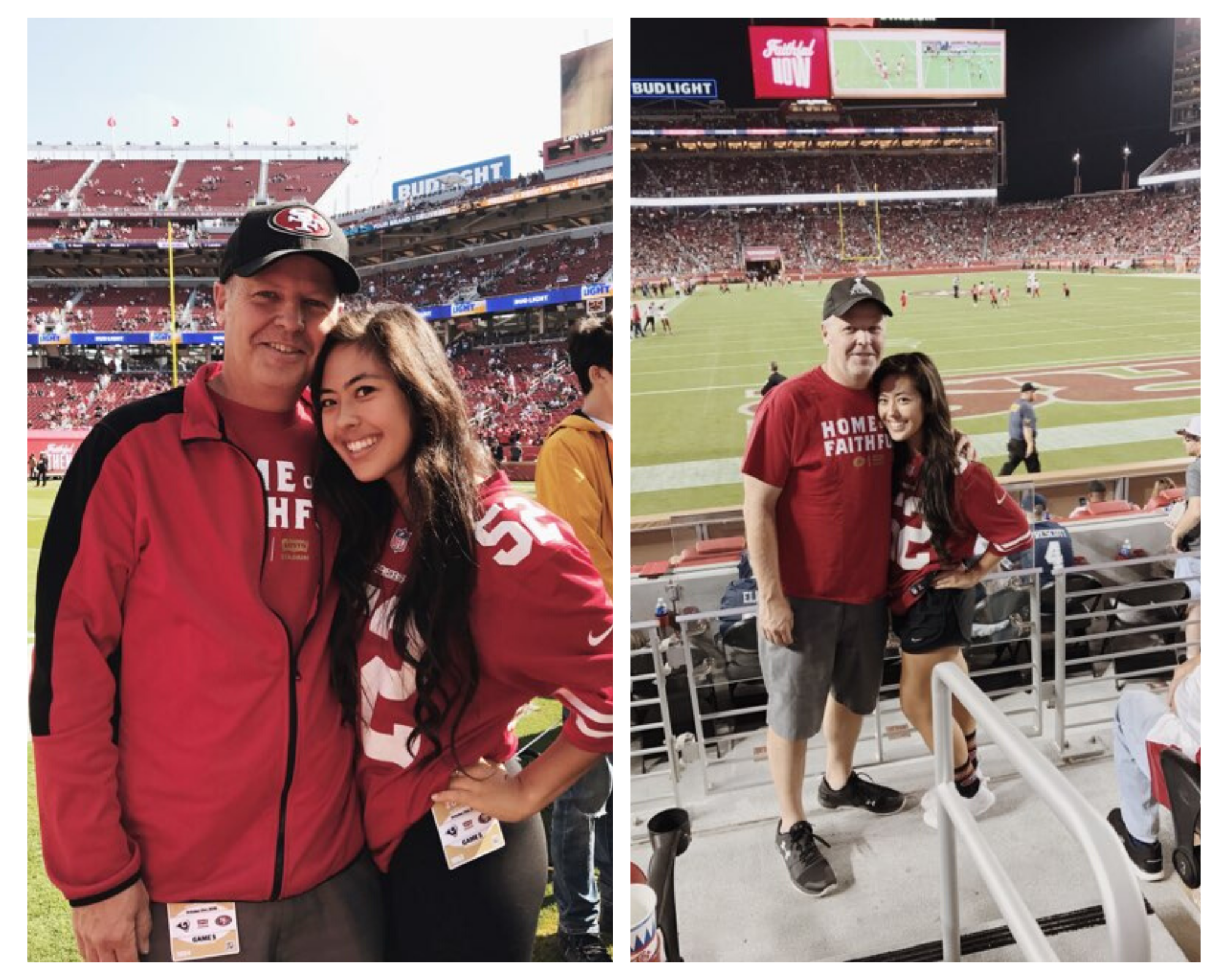 Anna and her dad at 49ers games photo 1
