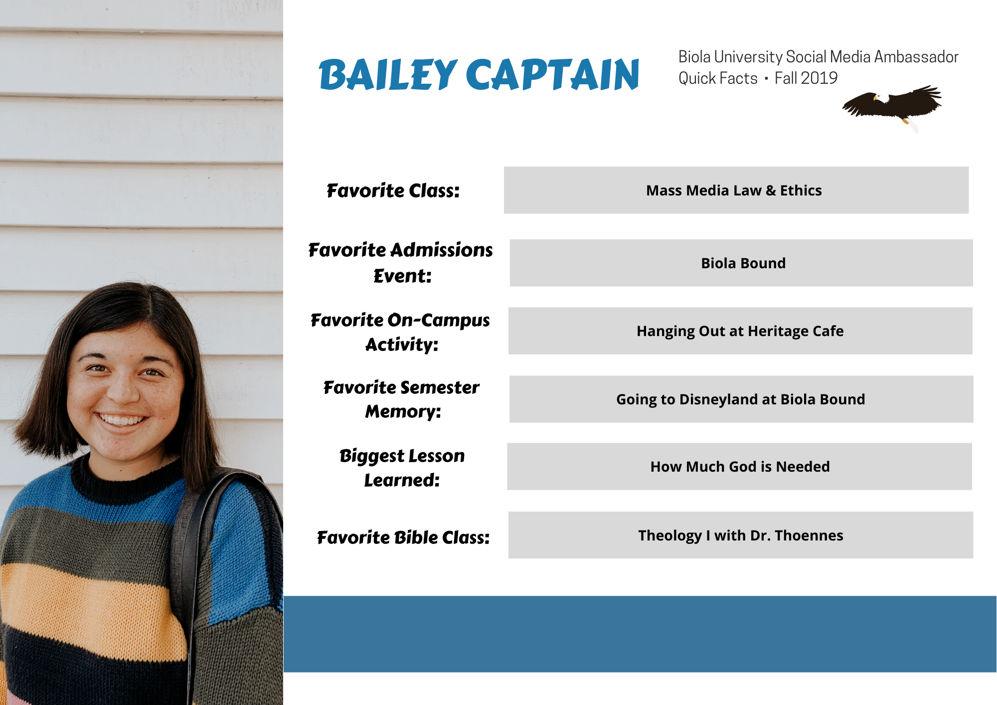 Bailey Captain, In Detail