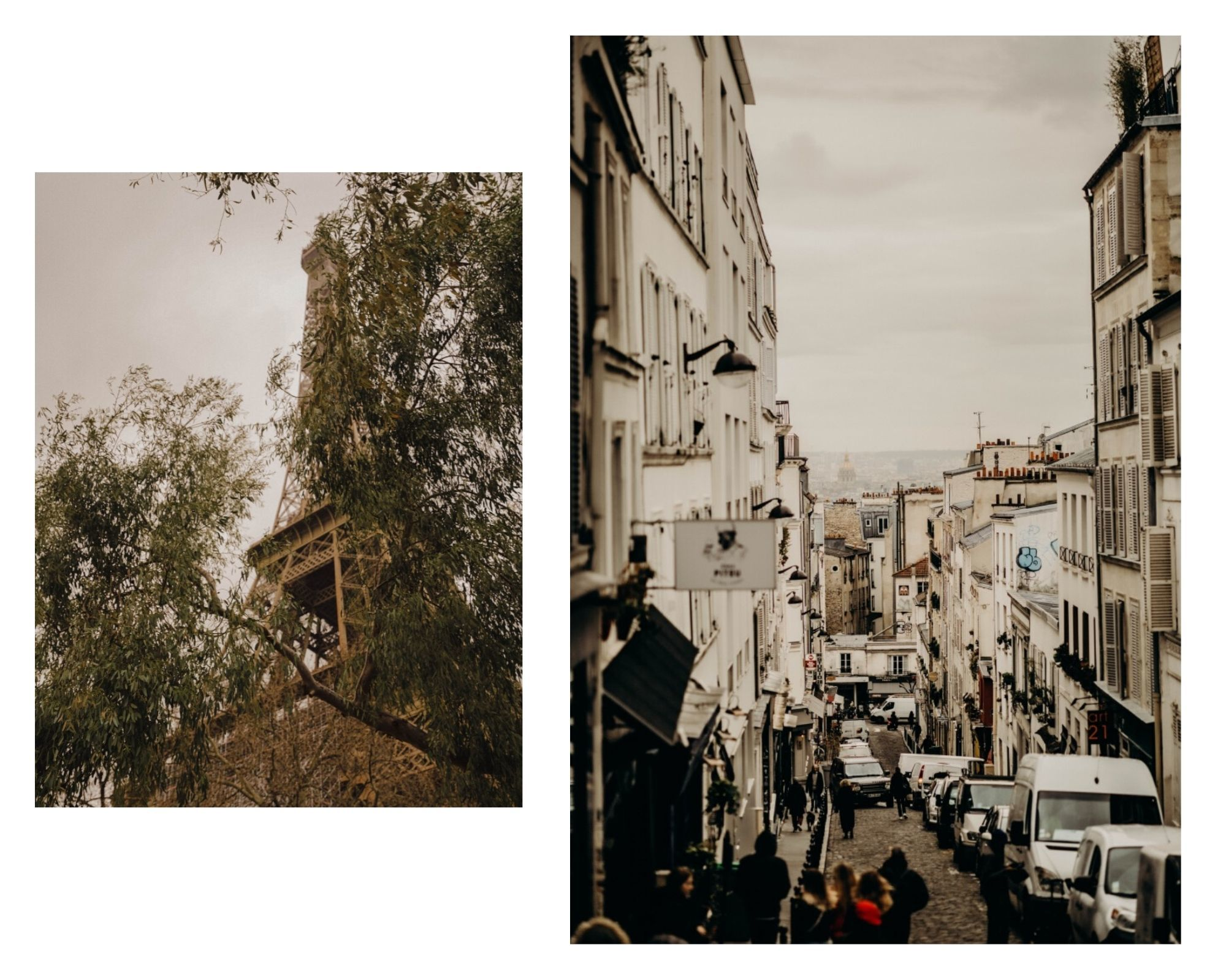 paris streets and efile tower