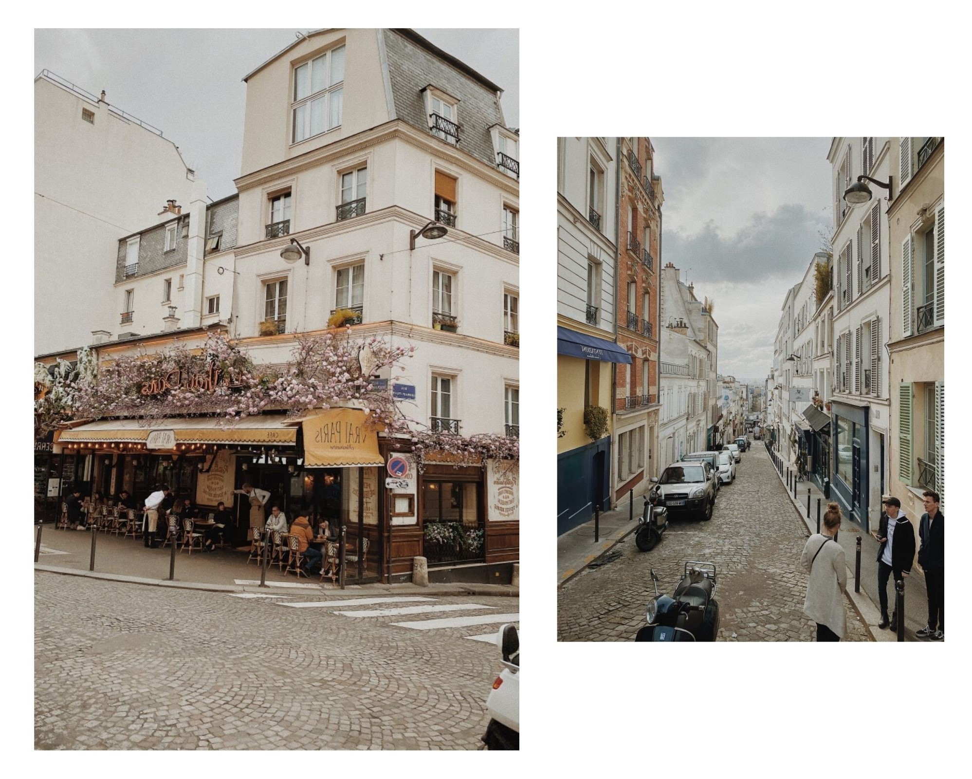 paris streets and attractions