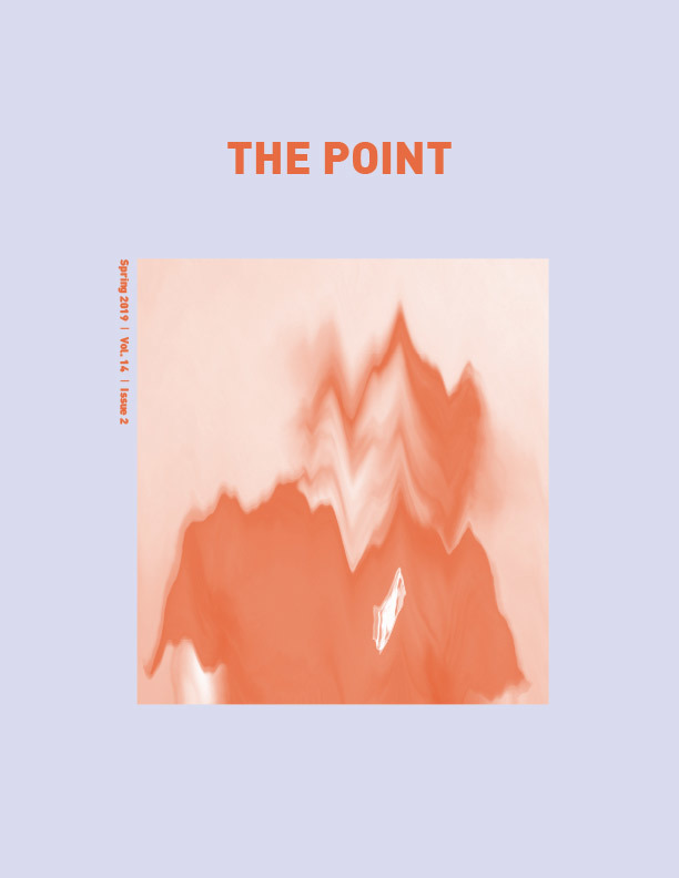 Image of the magazine cover with this text: The Point, Spring 2019, Volume 14, Issue 2.