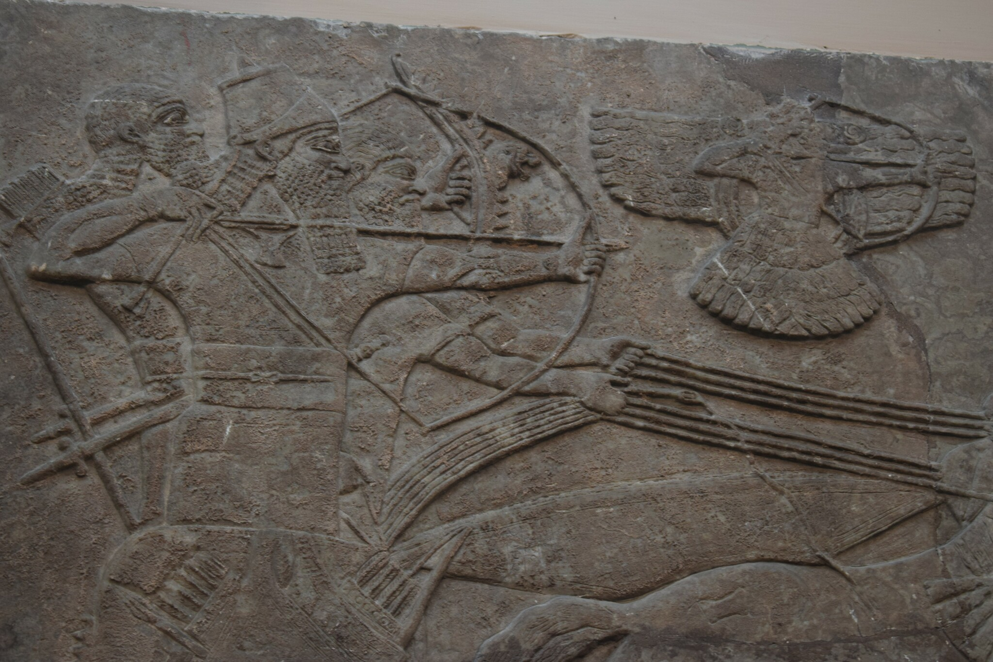 Wall relief with the Assyrian god Aššur