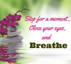 Graphic that says Breathe